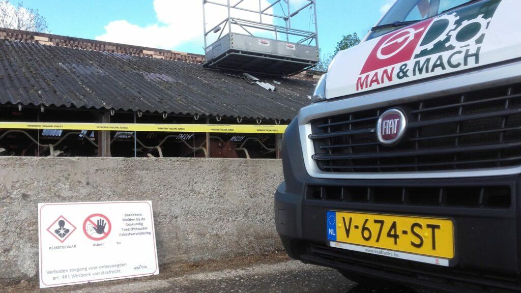 Asbest saneren ligboxenstal